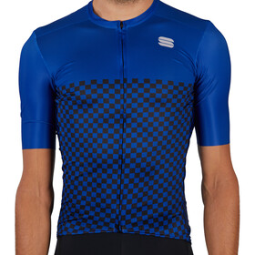 Sportful Checkmate Jersey Men, blue ceramic